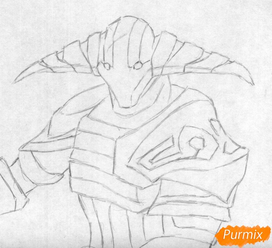 Рисуем героя Svena из игры Dota 2 - шаг 1
