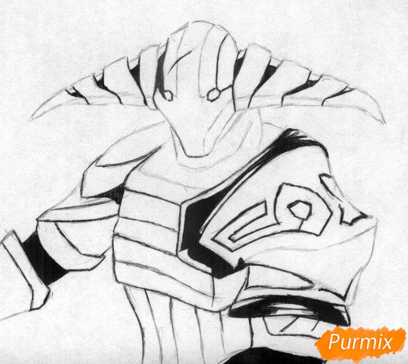 Рисуем героя Svena из игры Dota 2 - шаг 2