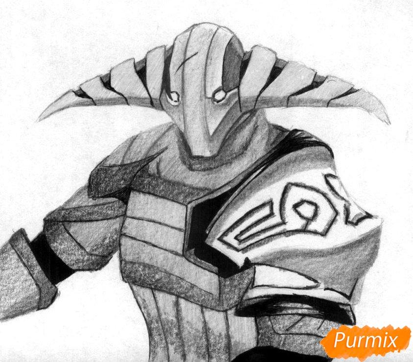 Рисуем героя Svena из игры Dota 2 - шаг 3