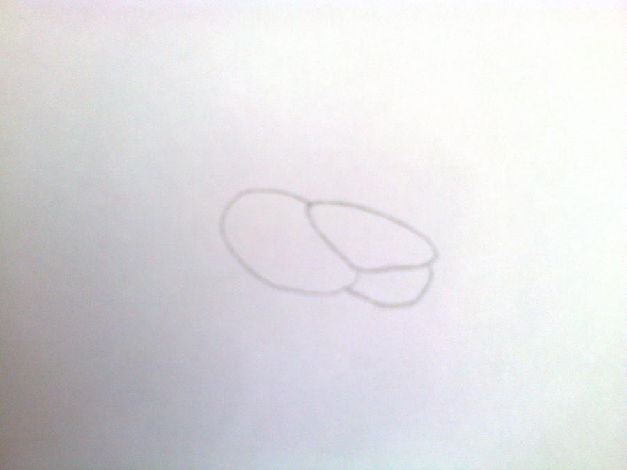 Рисуем и раскрасить голову - шаг 1