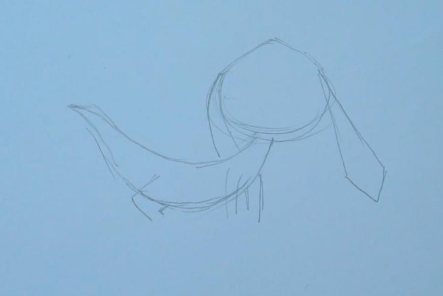 Рисуем покемона Хелиоптиля (Helioptile) - шаг 1