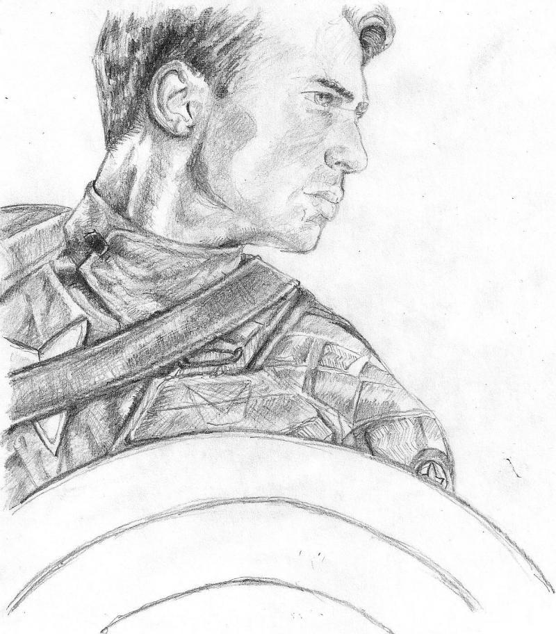 Рисуем Капитана Америку
