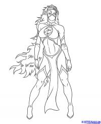 Китану из Mortal Kombat  карандашом