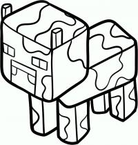 Minecraft корову из карандашом