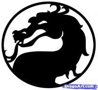 логотип Mortal Kombat карандашом