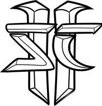 Фото логотип StarCraft простым карандашом