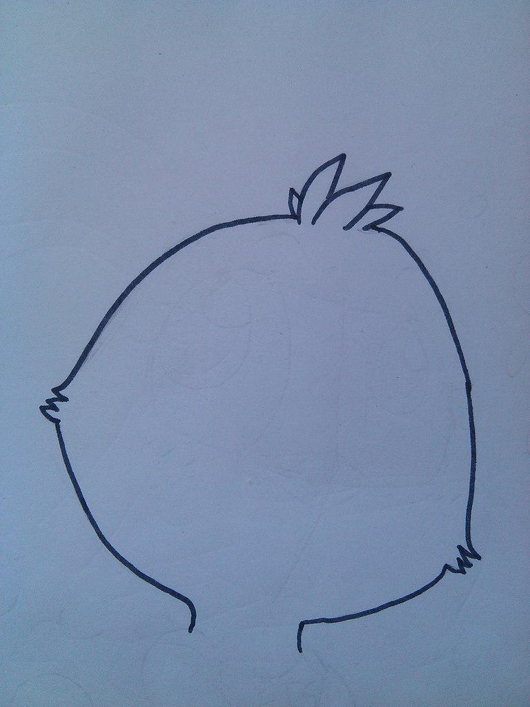 Рисуем маленькую Той Чику - шаг 1