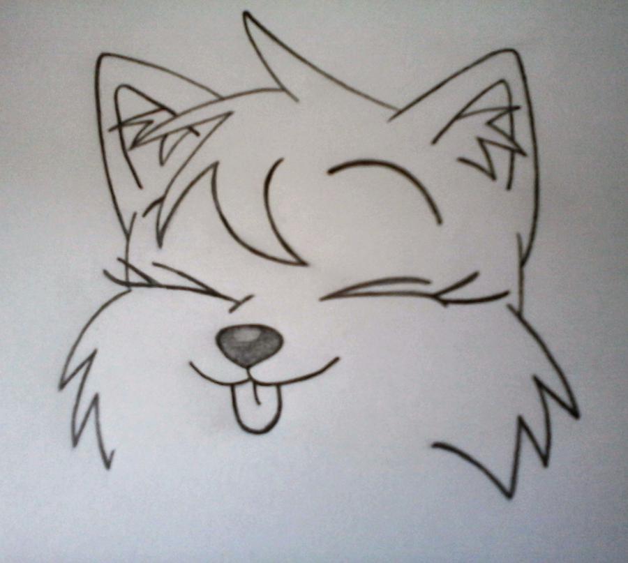 Рисуем Мангл в стиле маленького лисенка - шаг 2
