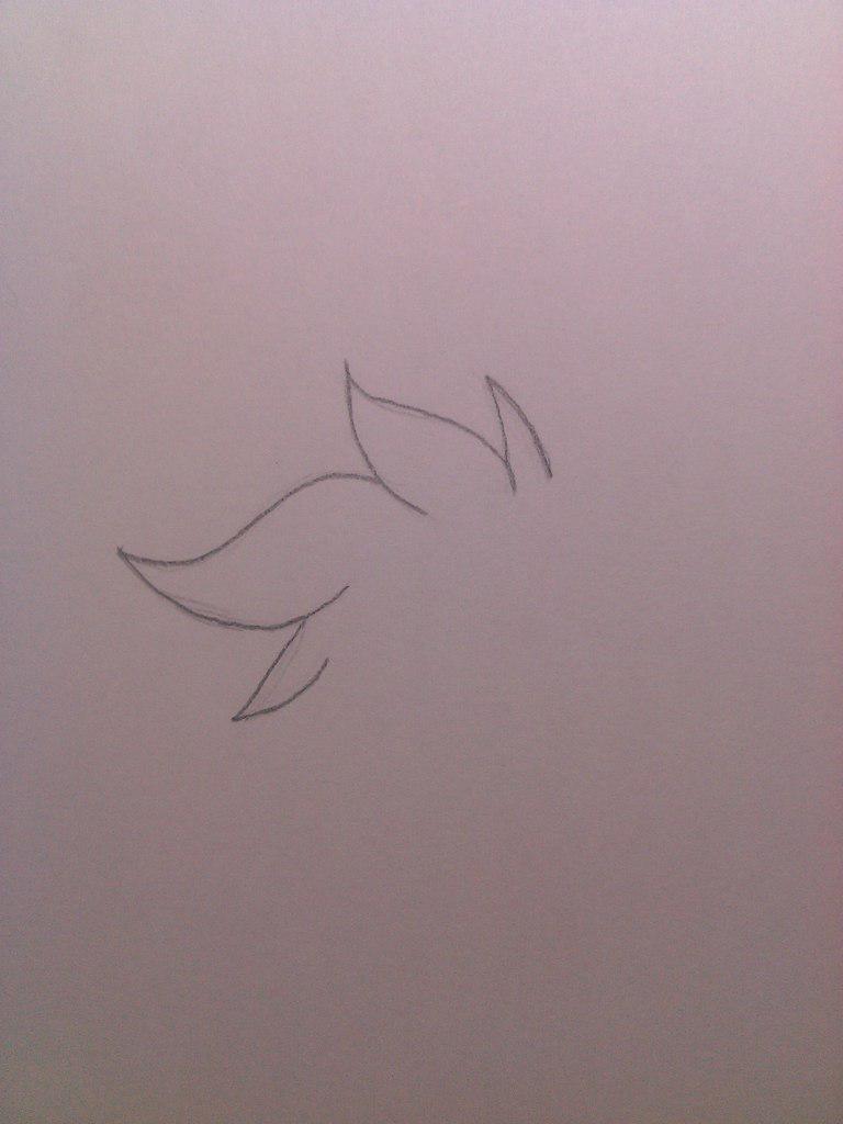 Рисуем милого Фокси карандашами - шаг 1