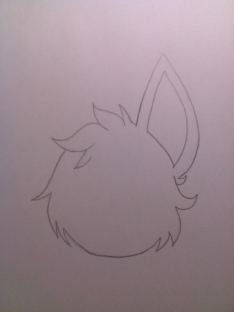 Рисуем милого Фокси карандашами - шаг 2