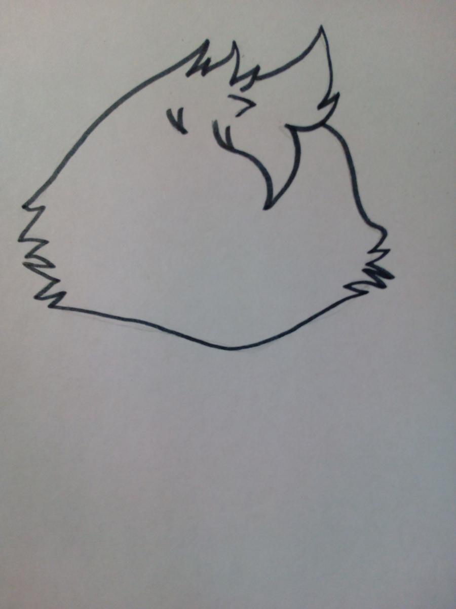 Рисуем милую Той Чику в полный рост - шаг 1