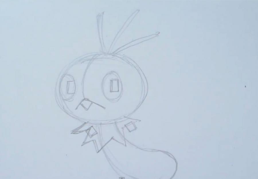 Рисуем покемона Скаттербаг - шаг 2