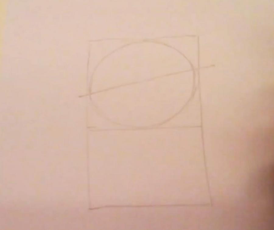Рисуем покемона Чеспина - шаг 1
