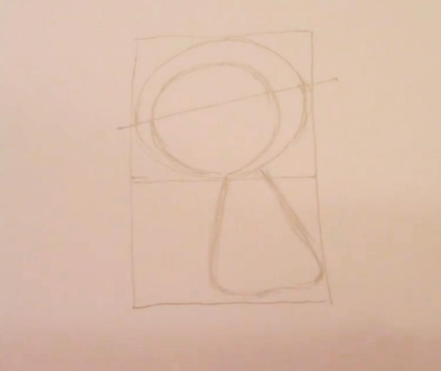 Рисуем покемона Чеспина - шаг 2
