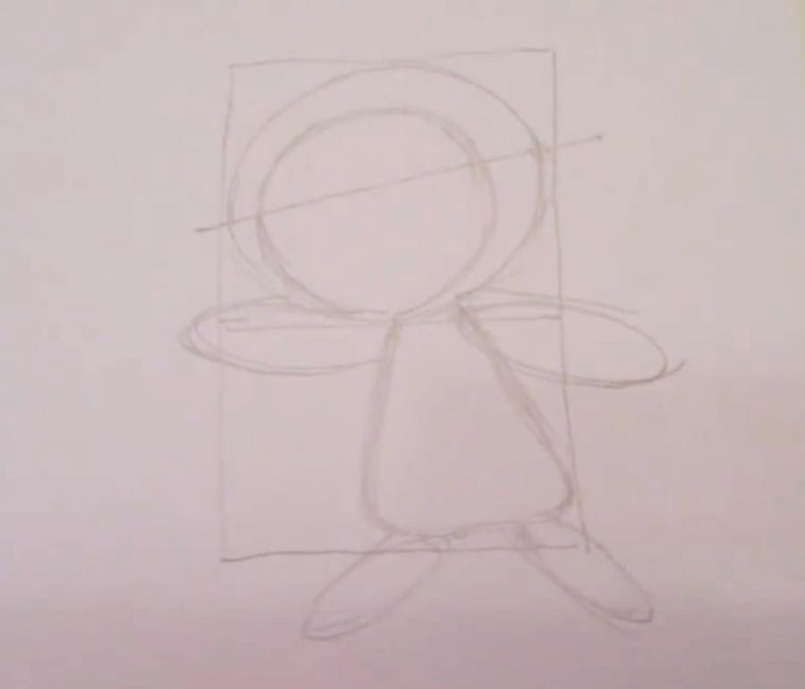 Рисуем покемона Чеспина - шаг 3