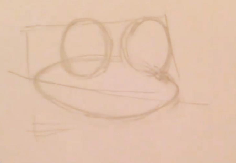Рисуем покемона Фроаки - шаг 1