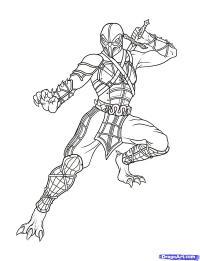 Рептилию из Mortal Kombat  карандашом