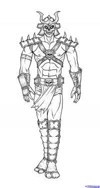 Шао Кана  из Mortal Kombat карандашом
