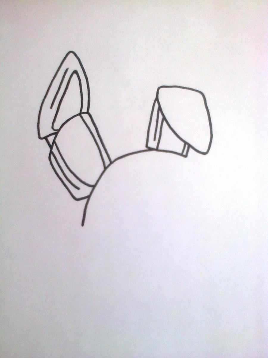 Рисуем Той Бонни из 5 ночей с Фредди - шаг 2