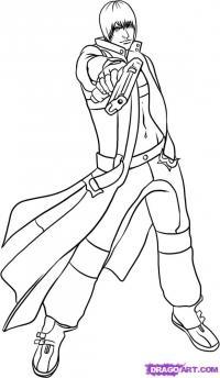 Как рисовать Данте из Devil May Cry карандашом