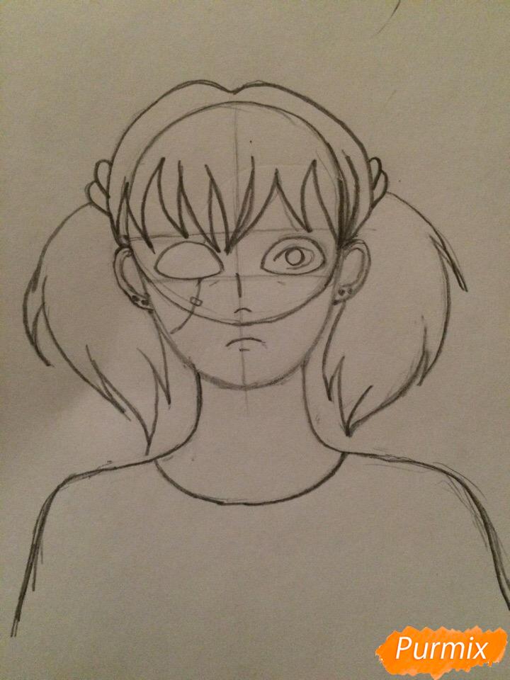Рисуем портрет Салли-кромсали - шаг 4