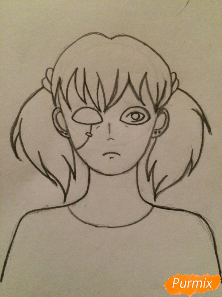 Рисуем портрет Салли-кромсали - шаг 5