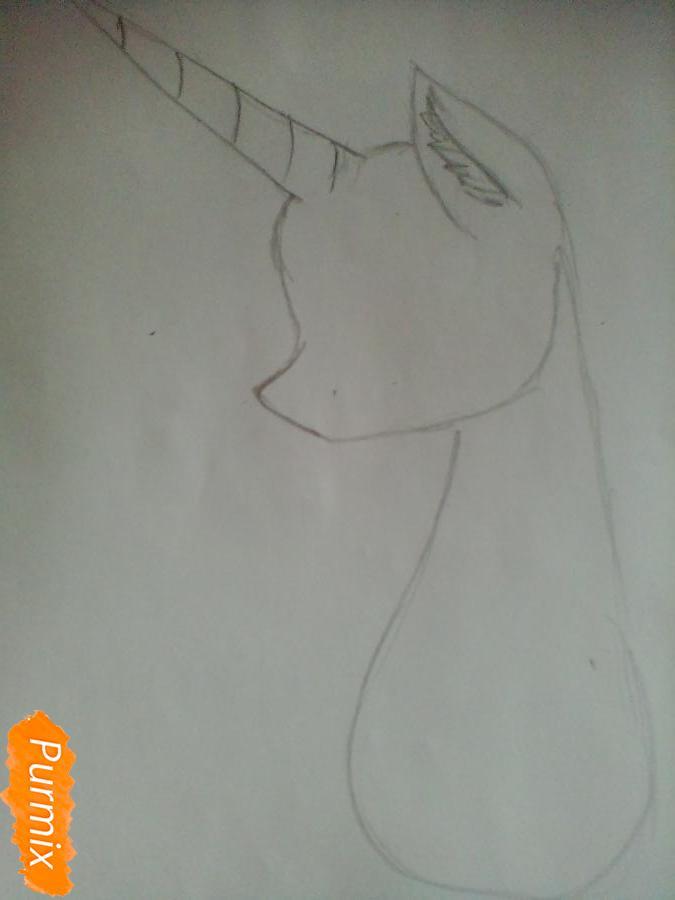 Рисуем  портрет Принцессы Селестии - шаг 1