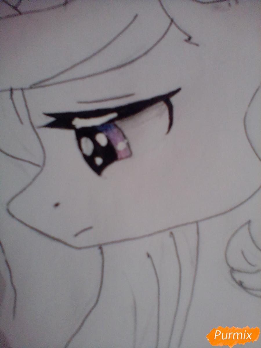 Рисуем  портрет Принцессы Селестии - шаг 5