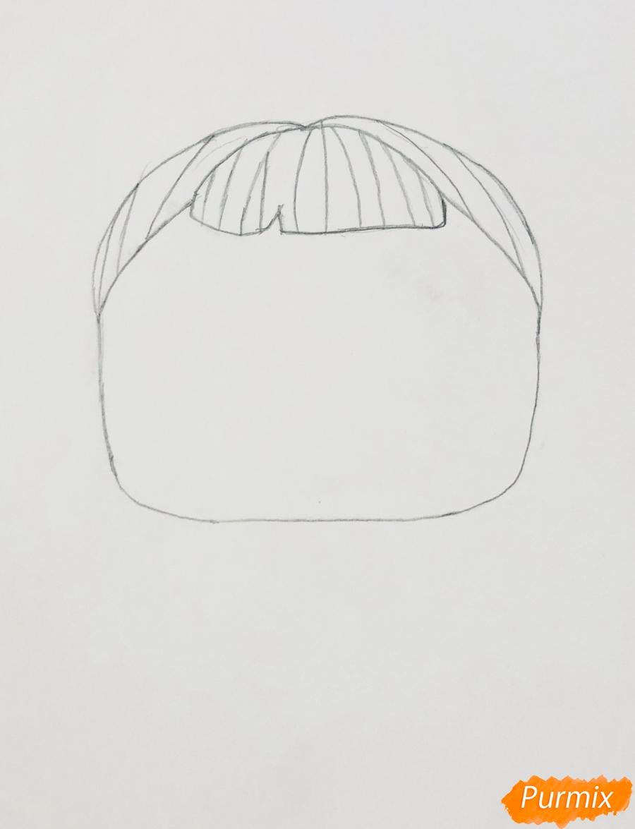Рисуем белую кошечку с крыльями и в очках из мультфильма Lol Pets - шаг 1