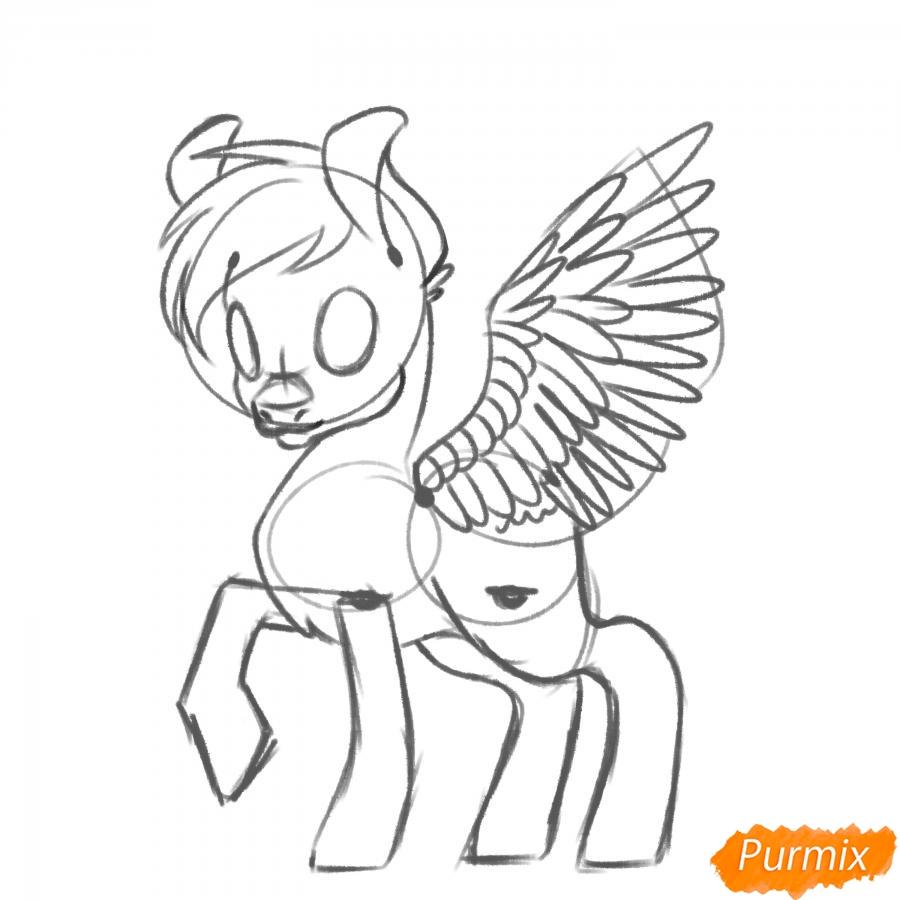 Рисуем Rainbow Dash из My Little Pony - шаг 10