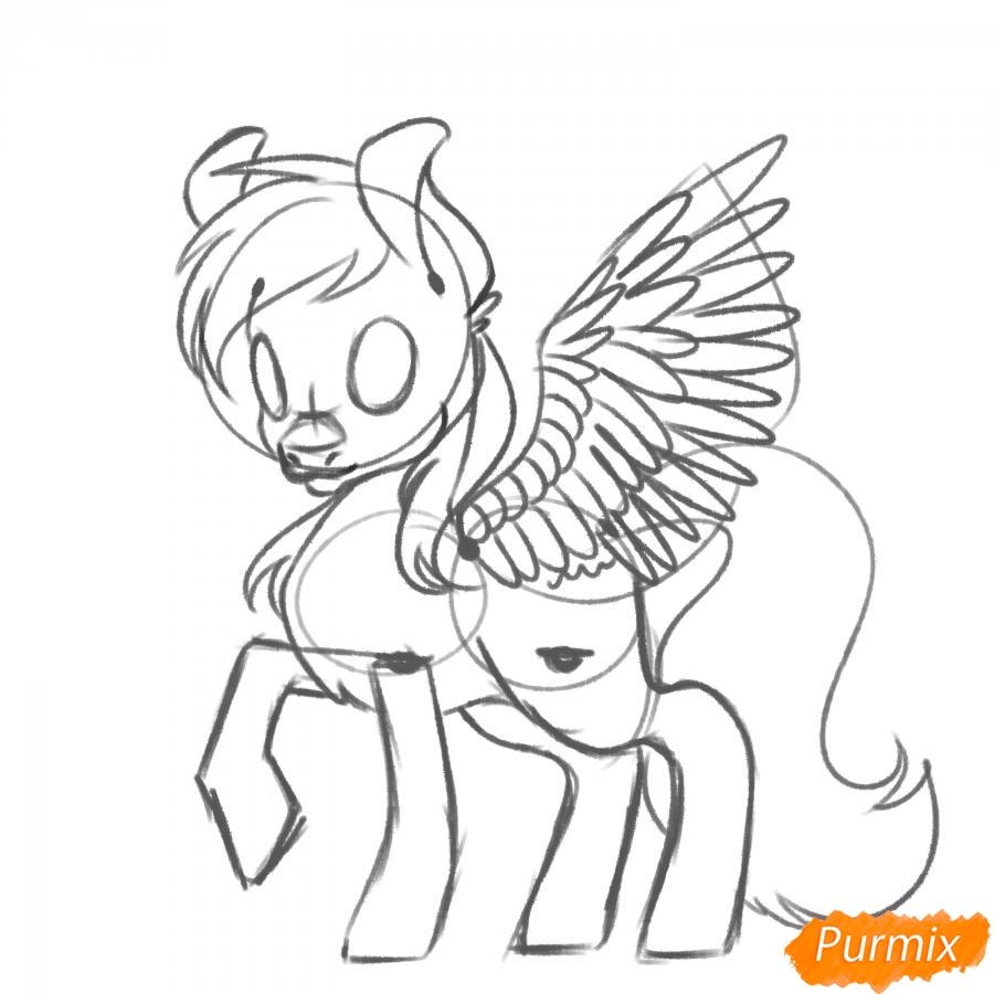 Рисуем Rainbow Dash из My Little Pony - шаг 11