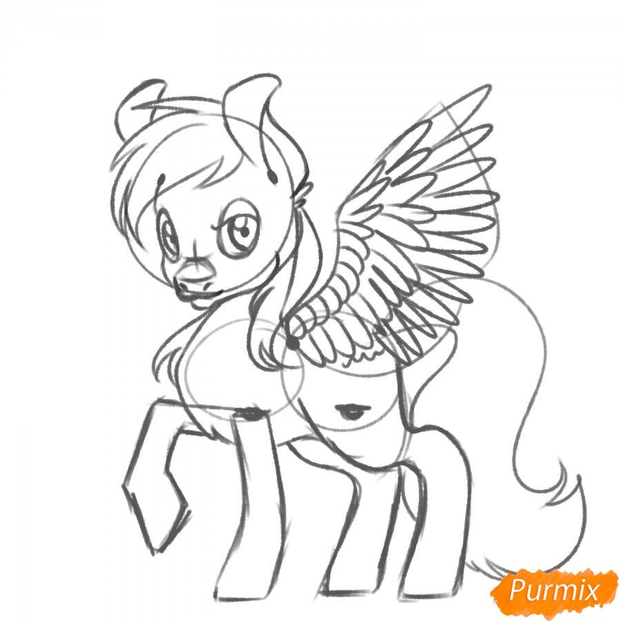 Рисуем Rainbow Dash из My Little Pony - шаг 12
