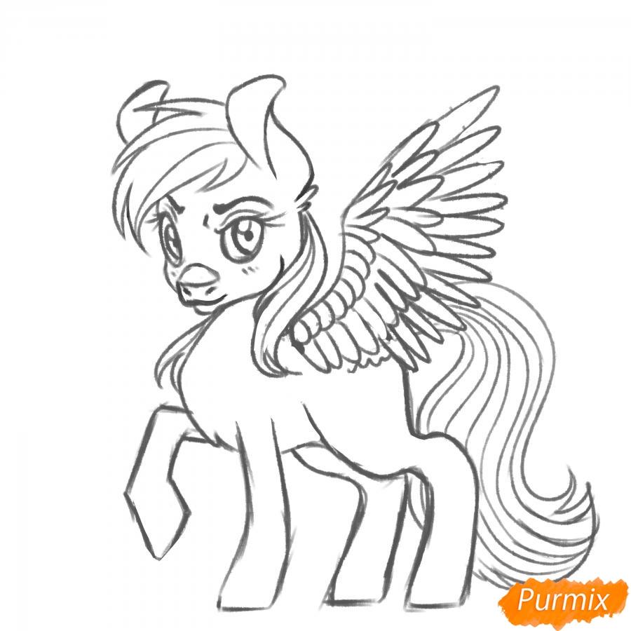 Рисуем Rainbow Dash из My Little Pony - шаг 14