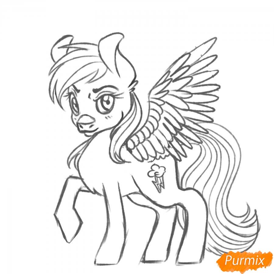 Рисуем Rainbow Dash из My Little Pony - шаг 15