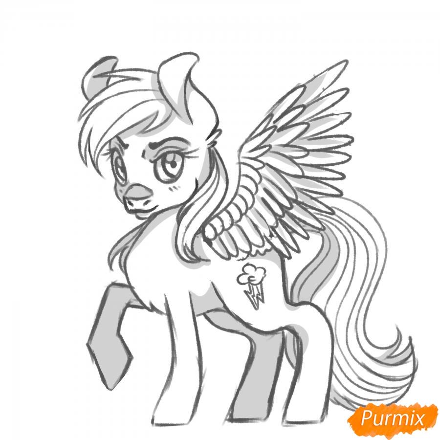 Рисуем Rainbow Dash из My Little Pony - шаг 16
