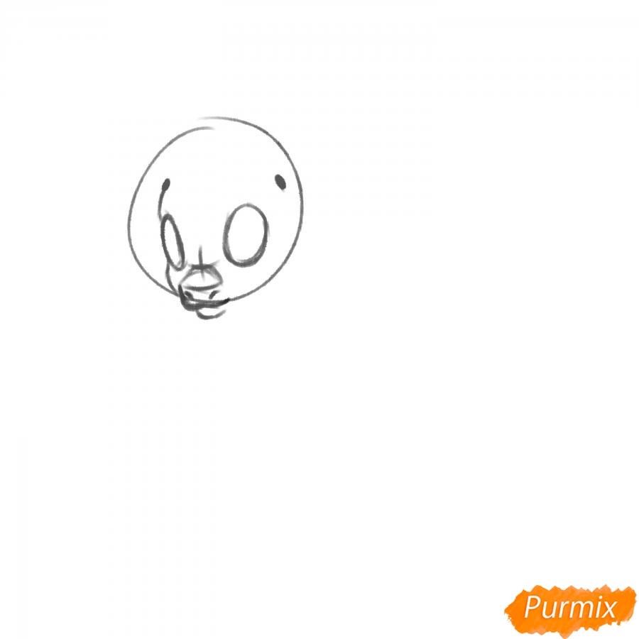 Рисуем Rainbow Dash из My Little Pony - шаг 3