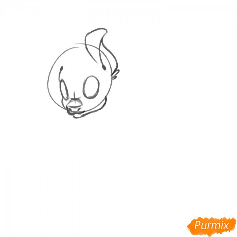 Рисуем Rainbow Dash из My Little Pony - шаг 4
