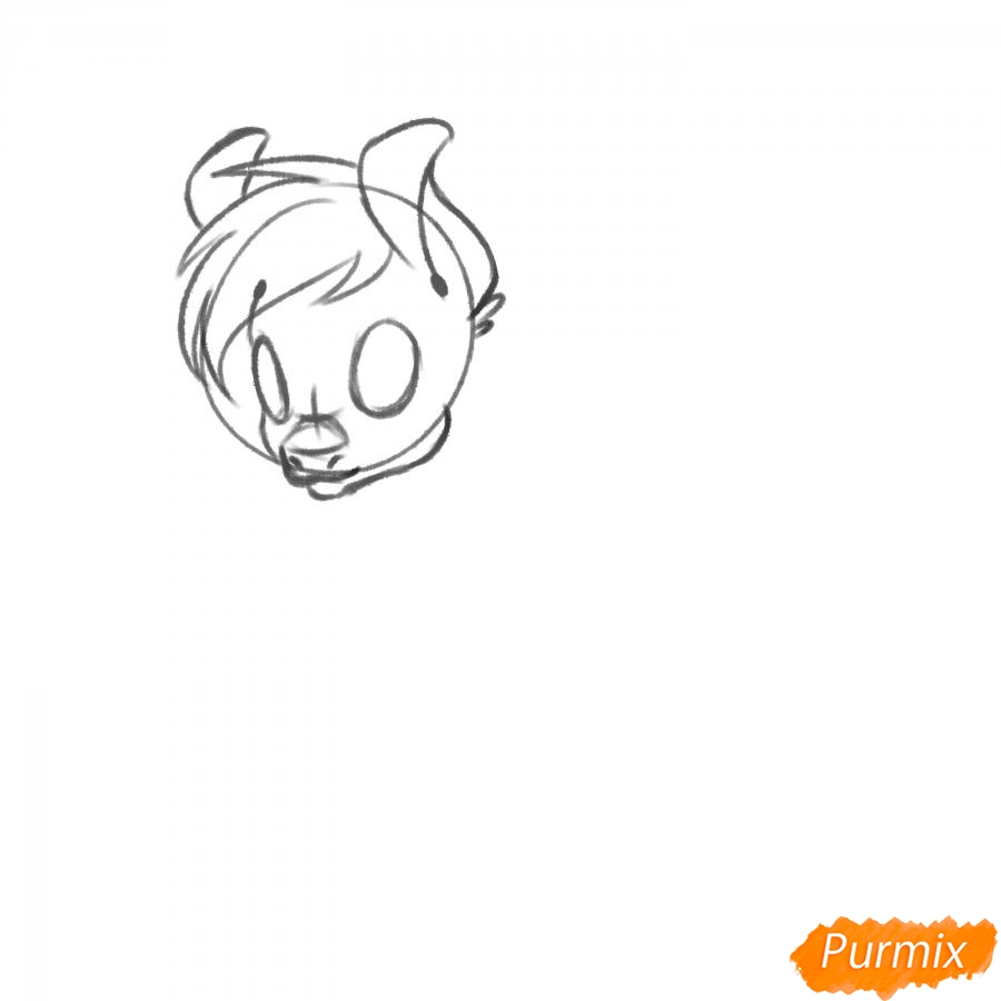 Рисуем Rainbow Dash из My Little Pony - шаг 5