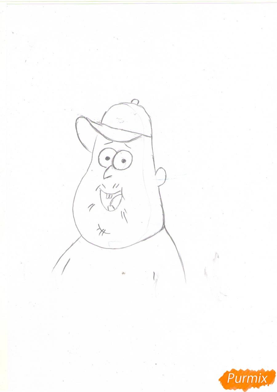 Рисуем Зуса из мультфильма Гравити Фолз карандашами - шаг 3