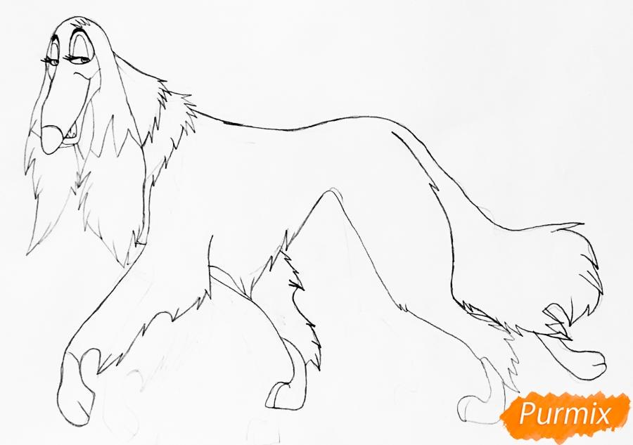 Рисуем афганскую борзую по имени Сильви из мультфильма Балто - шаг 4