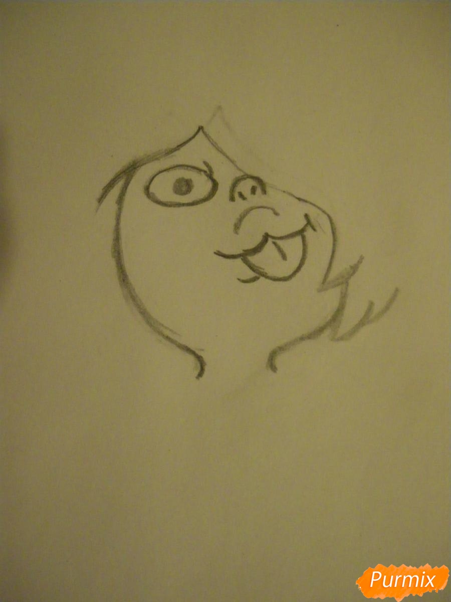 Рисуем Аметист из Вселенная Стивена карандашами - шаг 2