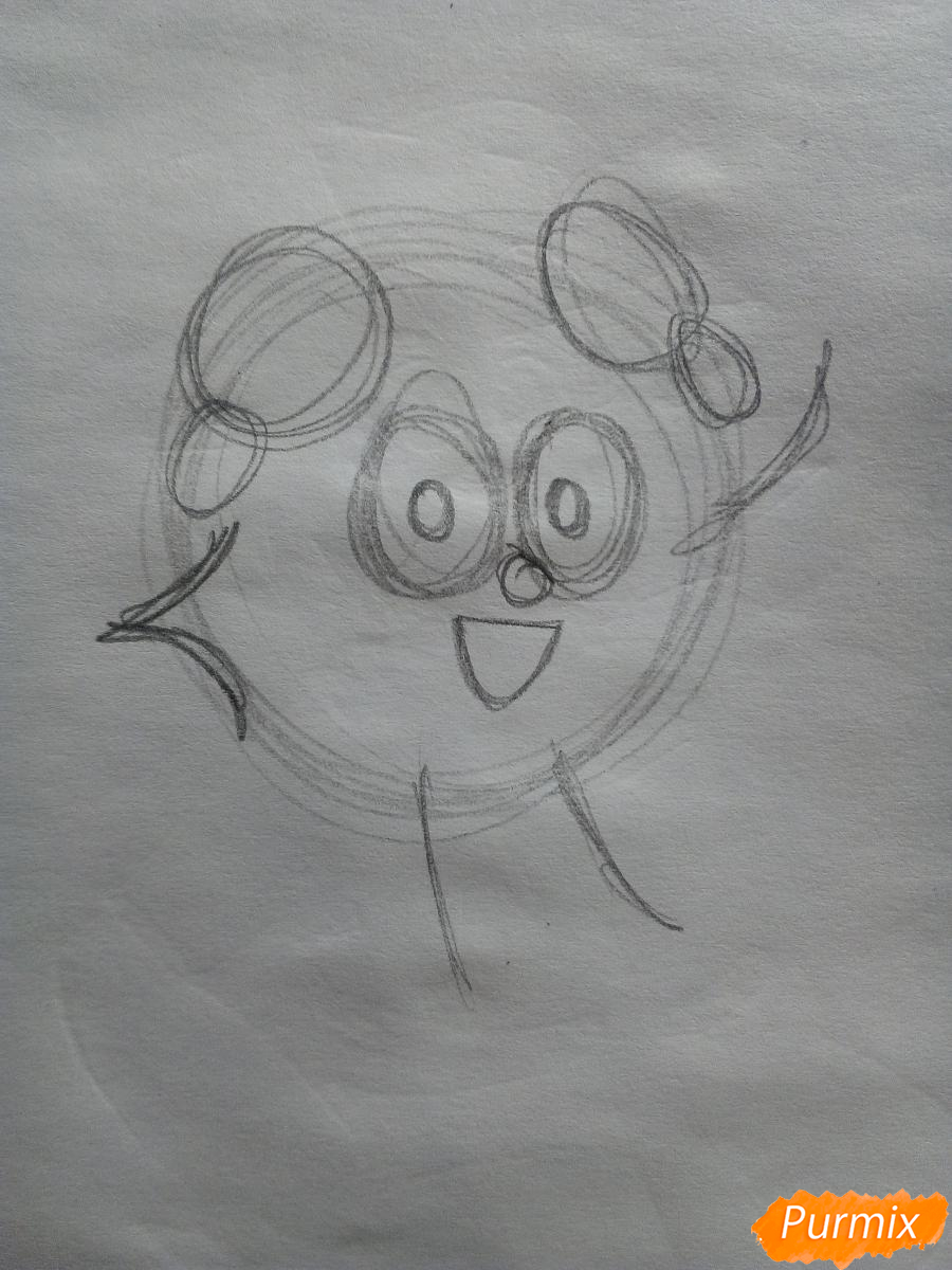 Рисуем Бараша из Смешариков - шаг 1