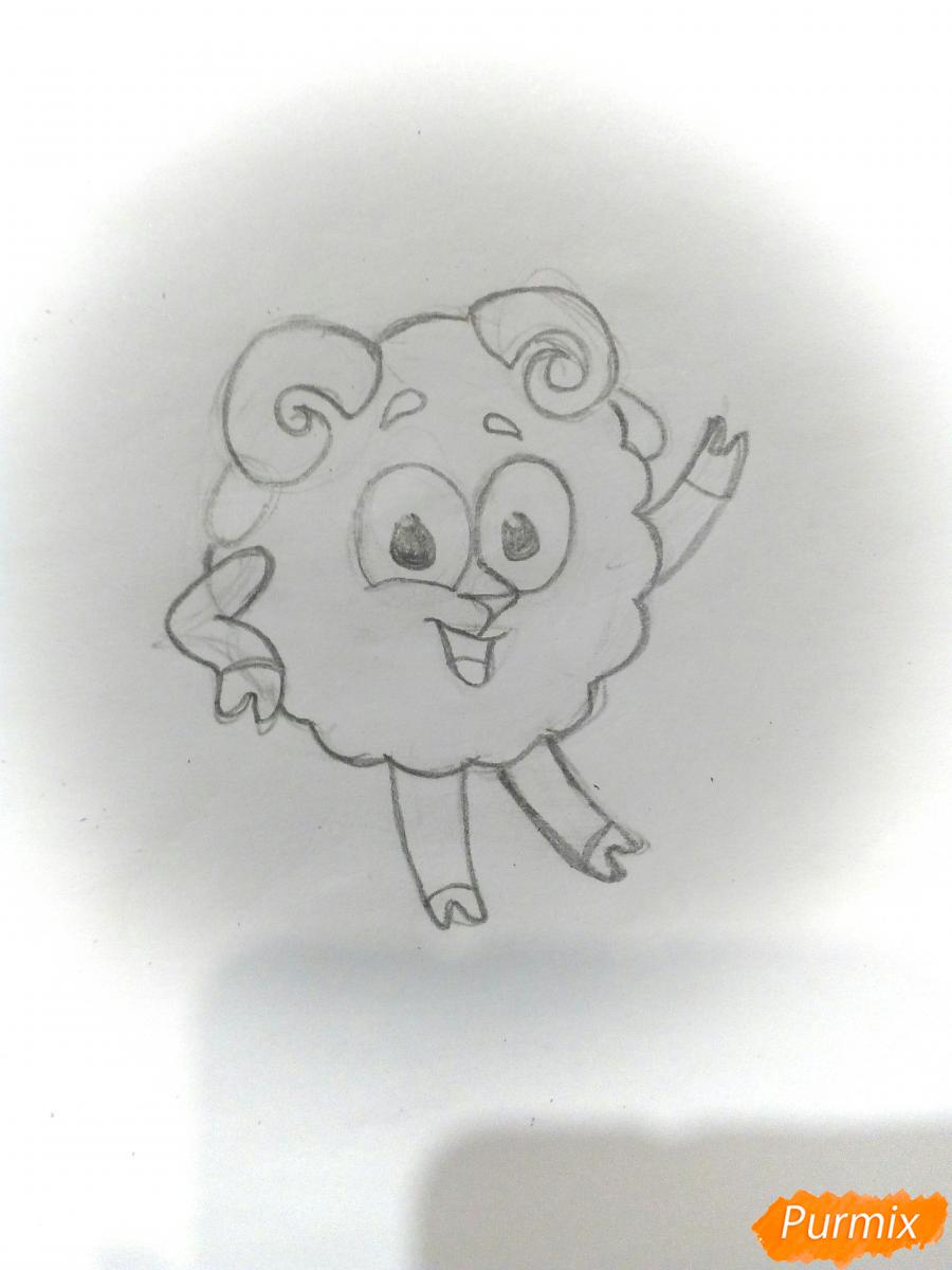 Рисуем Бараша из Смешариков - шаг 3