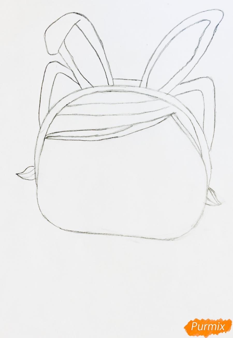 Рисуем белую кошечку с кроличьими ушками из мультфильма Lol Pets - шаг 3