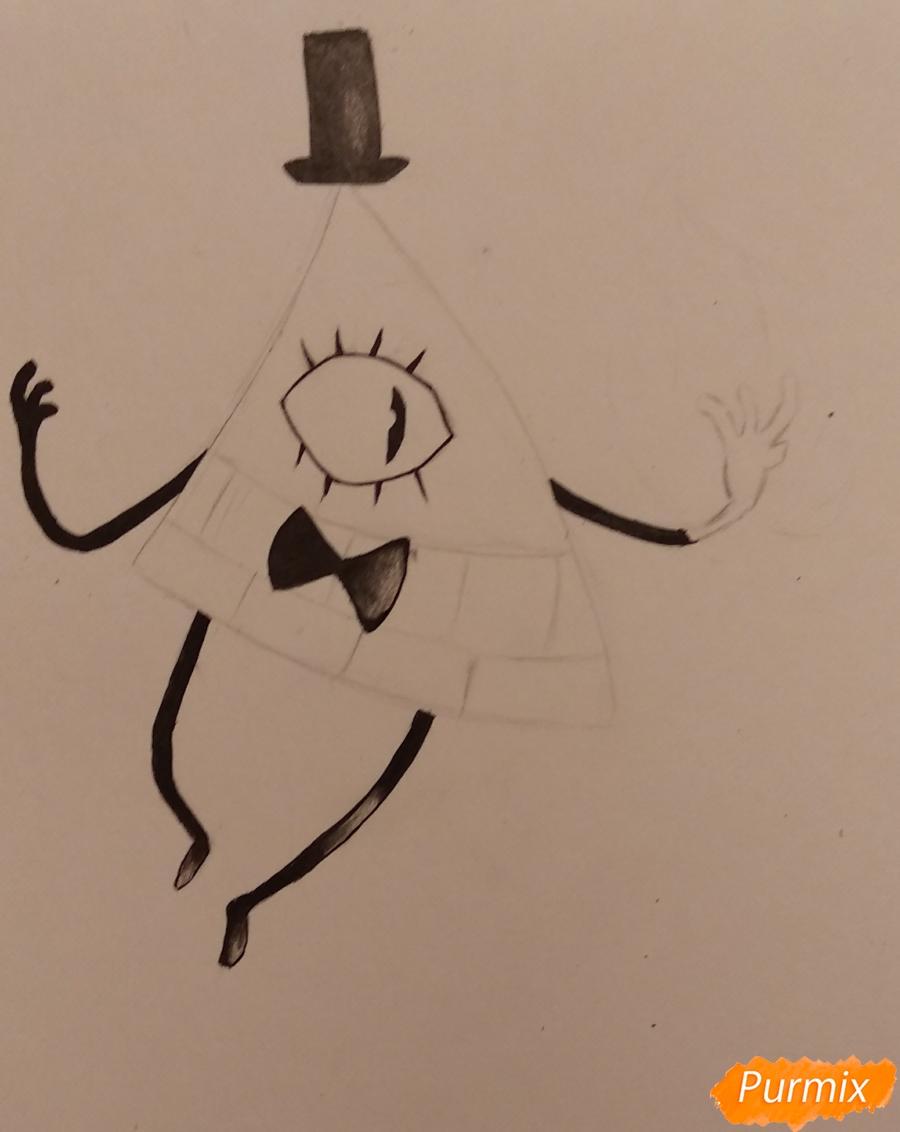 Рисуем Билла Сайфера с огнем - шаг 3