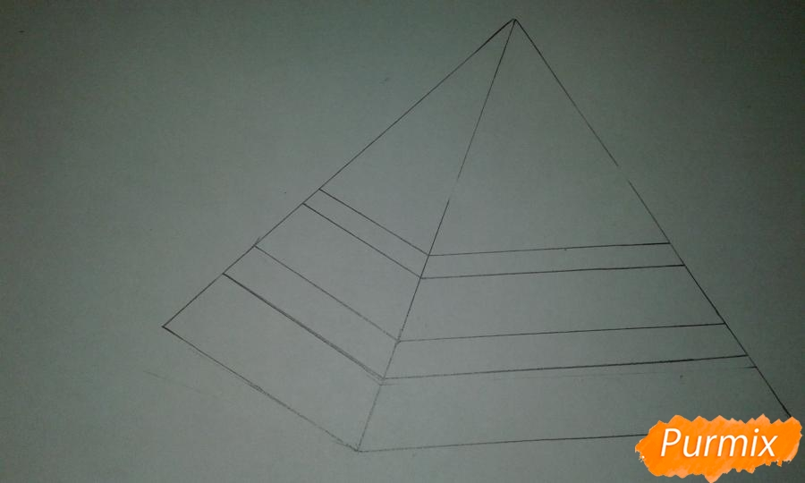 Рисуем Билла Шифра из Гравити Фолз карандашами - шаг 1