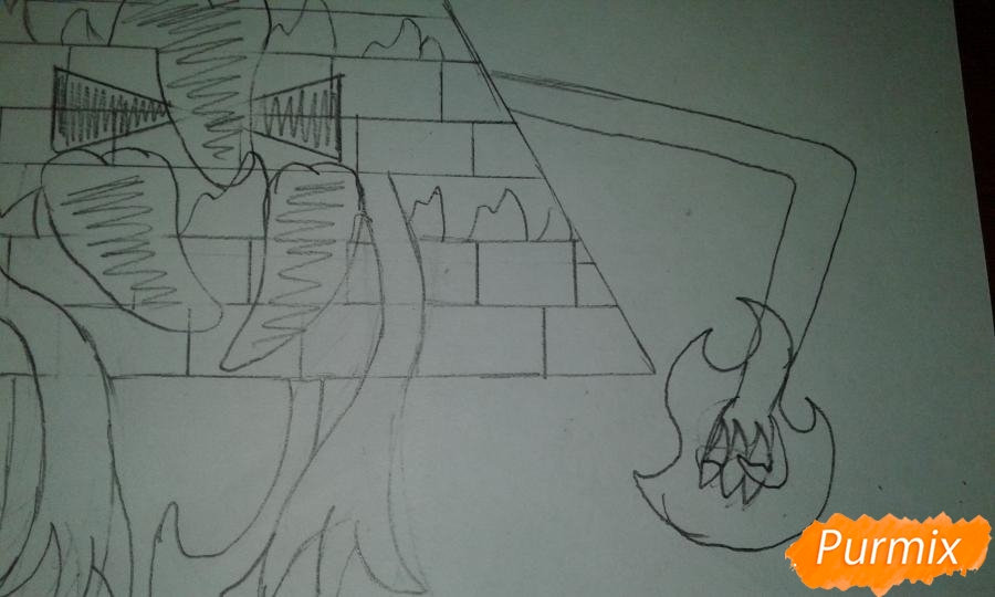 Рисуем Билла Шифра из Гравити Фолз карандашами - шаг 10