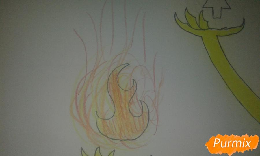 Рисуем Билла Шифра из Гравити Фолз карандашами - шаг 15