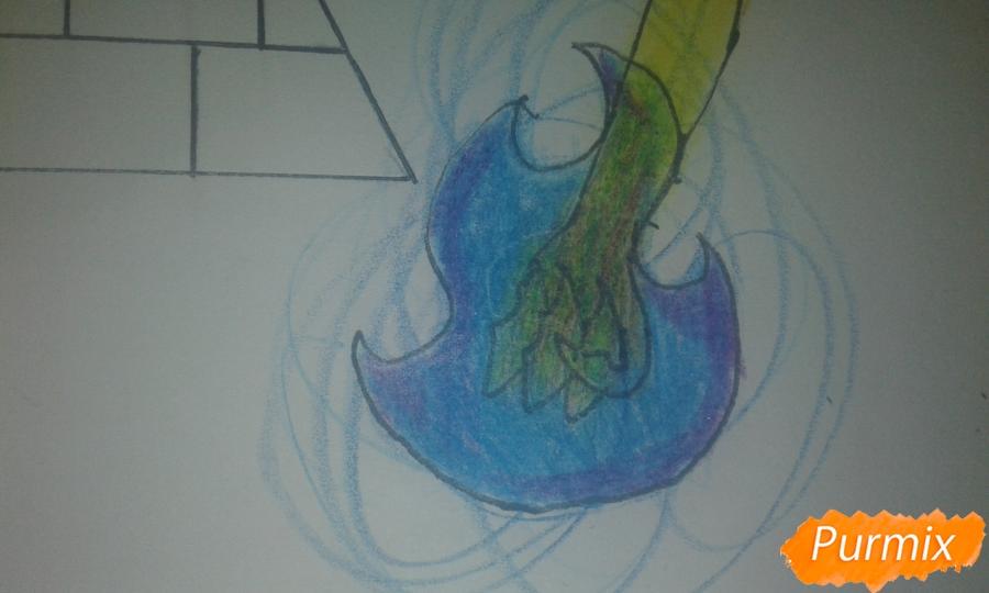Рисуем Билла Шифра из Гравити Фолз карандашами - шаг 16