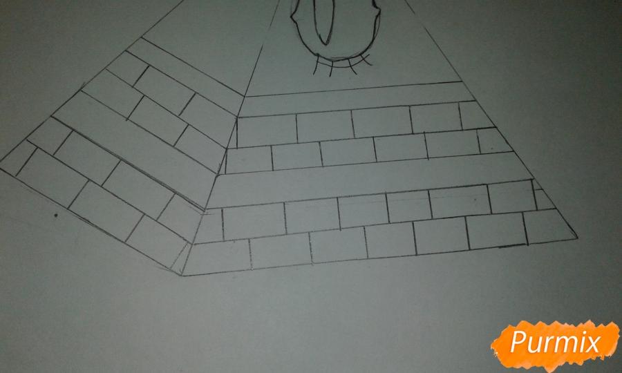 Рисуем Билла Шифра из Гравити Фолз карандашами - шаг 3